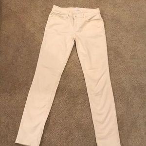 Pants - Cream corduroy pants by Loft